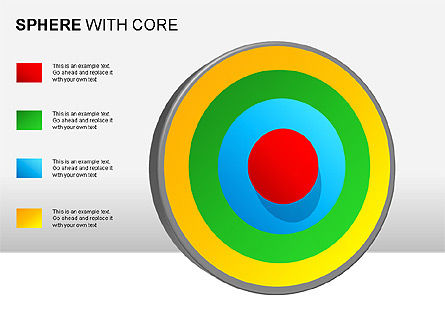 Spheres with Core Collection, Slide 13, 00021, Shapes — PoweredTemplate.com