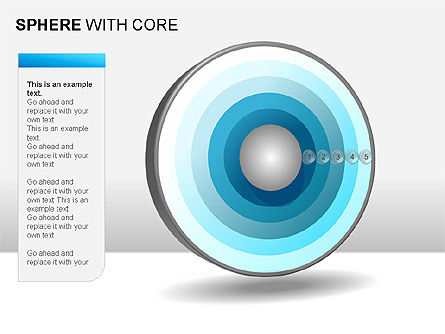 Spheres with Core Collection, Slide 14, 00021, Shapes — PoweredTemplate.com