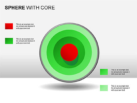 Spheres with Core Collection, Slide 3, 00021, Shapes — PoweredTemplate.com