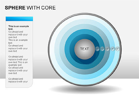 Spheres with Core Collection, Slide 6, 00021, Shapes — PoweredTemplate.com
