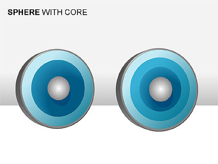 Spheres with Core Collection, Slide 9, 00021, Shapes — PoweredTemplate.com