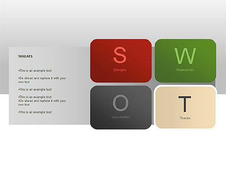 SWOT Diagram, Slide 10, 00022, Business Models — PoweredTemplate.com