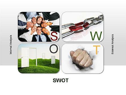 SWOT Diagram, Slide 11, 00022, Business Models — PoweredTemplate.com