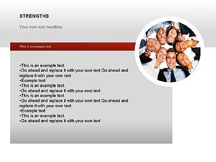 SWOT Diagram, Slide 12, 00022, Business Models — PoweredTemplate.com