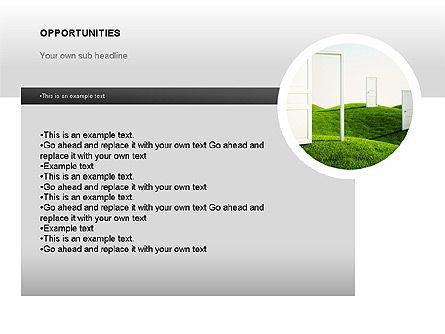 SWOT Diagram, Slide 14, 00022, Business Models — PoweredTemplate.com
