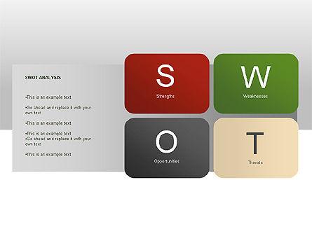 SWOT Diagram, Slide 6, 00022, Business Models — PoweredTemplate.com