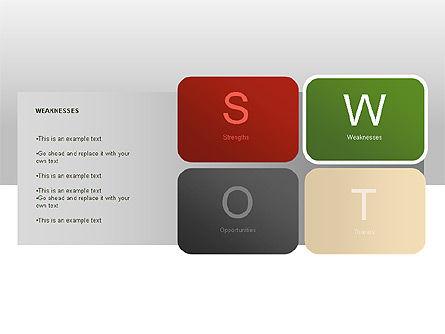 SWOT Diagram, Slide 8, 00022, Business Models — PoweredTemplate.com