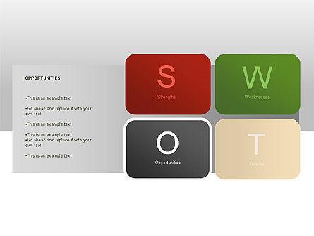 SWOT Diagram, Slide 9, 00022, Business Models — PoweredTemplate.com