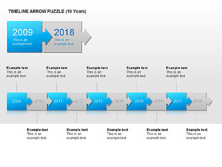 Timeline Arrow Puzzle Toolbox, 00025, Puzzle Diagrams — PoweredTemplate.com