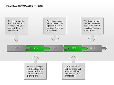 Timeline Arrow Puzzle Toolbox, Slide 3, 00025, Puzzle Diagrams — PoweredTemplate.com