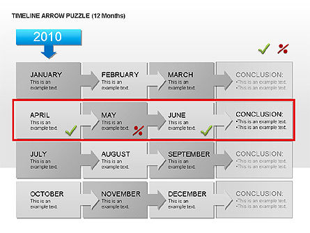 Timeline Arrow Puzzle Toolbox, Slide 4, 00025, Puzzle Diagrams — PoweredTemplate.com