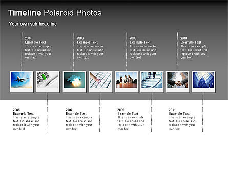 Timeline Polaroid Photos Diagram, 00026, Timelines & Calendars — PoweredTemplate.com