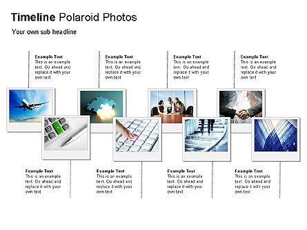 Timeline Polaroid Photos Diagram, Slide 2, 00026, Timelines & Calendars — PoweredTemplate.com