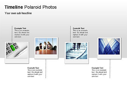 Timeline Polaroid Photos Diagram, Slide 3, 00026, Timelines & Calendars — PoweredTemplate.com