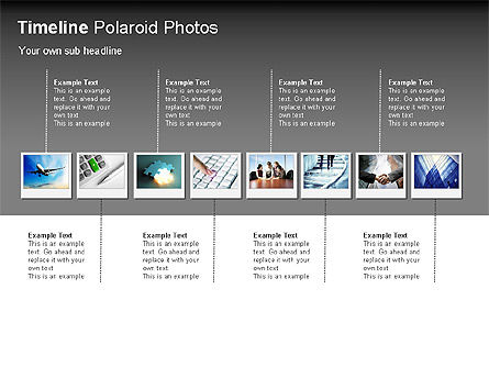 Timeline Polaroid Photos Diagram, Slide 4, 00026, Timelines & Calendars — PoweredTemplate.com