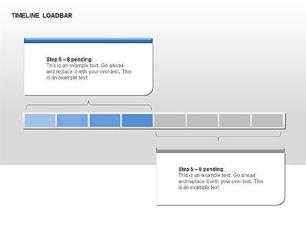 Timeline Preloader Diagrams, Slide 12, 00027, Timelines & Calendars — PoweredTemplate.com