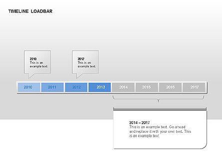 Timeline Preloader Diagrams, Slide 13, 00027, Timelines & Calendars — PoweredTemplate.com