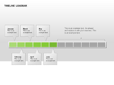 Timeline Preloader Diagrams, Slide 14, 00027, Timelines & Calendars — PoweredTemplate.com