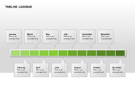 Timeline Preloader Diagrams, Slide 15, 00027, Timelines & Calendars — PoweredTemplate.com