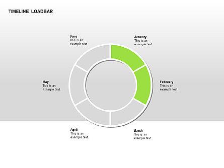 Timeline Preloader Diagrams, Slide 5, 00027, Timelines & Calendars — PoweredTemplate.com