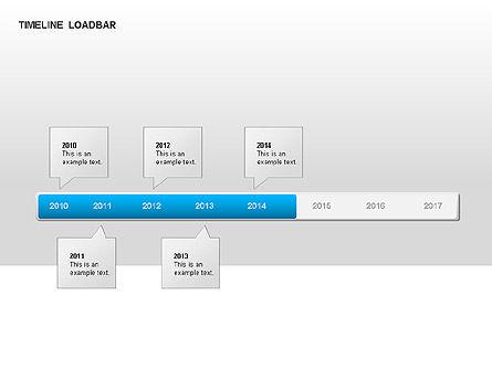 Timeline Preloader Diagrams, Slide 6, 00027, Timelines & Calendars — PoweredTemplate.com