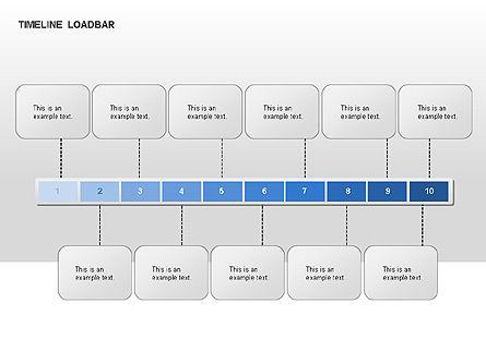 Timeline Preloader Diagrams, Slide 8, 00027, Timelines & Calendars — PoweredTemplate.com