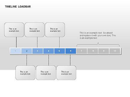 Timeline Preloader Diagrams, Slide 9, 00027, Timelines & Calendars — PoweredTemplate.com