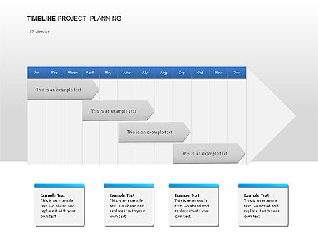 Project Planning Diagrams, 00028, Timelines & Calendars — PoweredTemplate.com