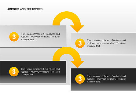 Arrows and Textboxes Toolbox, Slide 10, 00032, Text Boxes — PoweredTemplate.com