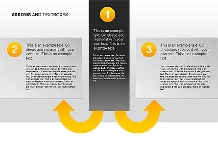Arrows and Textboxes Toolbox, Slide 11, 00032, Text Boxes — PoweredTemplate.com