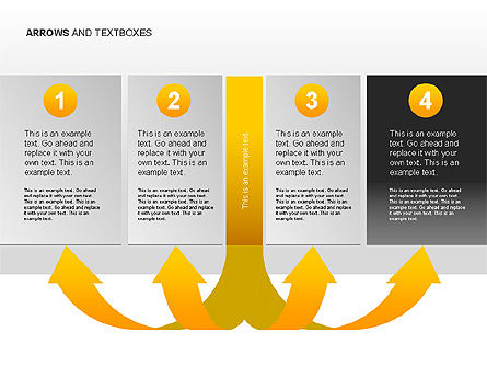 Arrows and Textboxes Toolbox, Slide 13, 00032, Text Boxes — PoweredTemplate.com