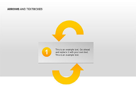 Arrows and Textboxes Toolbox, Slide 15, 00032, Text Boxes — PoweredTemplate.com
