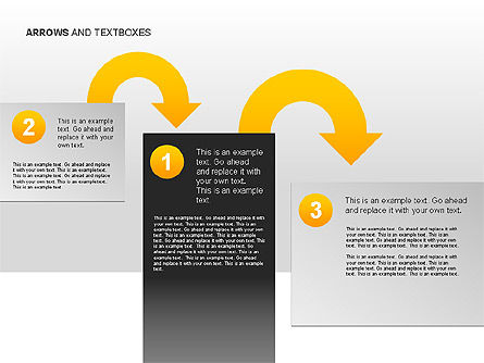 Arrows and Textboxes Toolbox, Slide 4, 00032, Text Boxes — PoweredTemplate.com