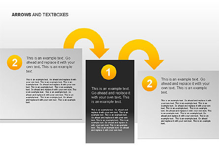 Arrows and Textboxes Toolbox, Slide 6, 00032, Text Boxes — PoweredTemplate.com