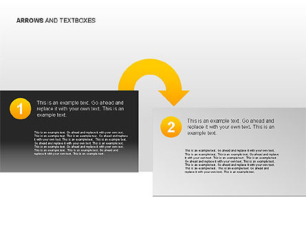 Arrows and Textboxes Toolbox, Slide 7, 00032, Text Boxes — PoweredTemplate.com
