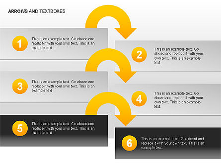 Arrows and Textboxes Toolbox, Slide 8, 00032, Text Boxes — PoweredTemplate.com