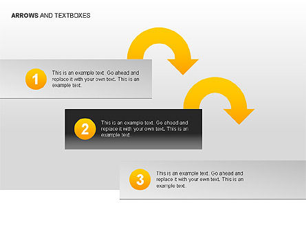 Arrows and Textboxes Toolbox, Slide 9, 00032, Text Boxes — PoweredTemplate.com