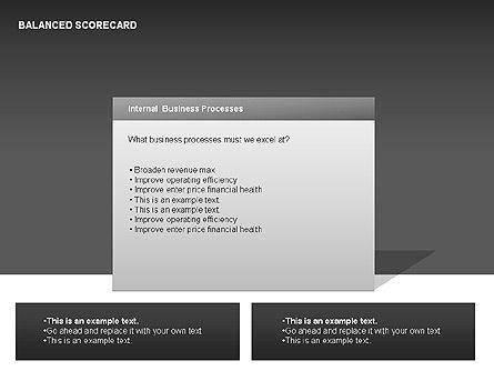 Colored Balanced Scorecard Diagram, Slide 10, 00033, Business Models — PoweredTemplate.com
