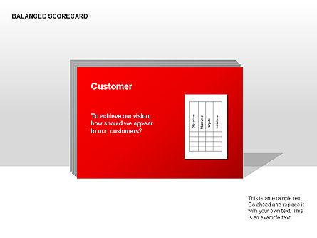 Colored Balanced Scorecard Diagram, Slide 5, 00033, Business Models — PoweredTemplate.com