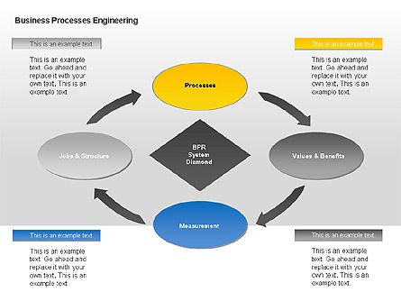 Business Process Engineering Diagram, Slide 2, 00035, Process Diagrams — PoweredTemplate.com
