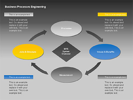 Business Process Engineering Diagram, Slide 3, 00035, Process Diagrams — PoweredTemplate.com