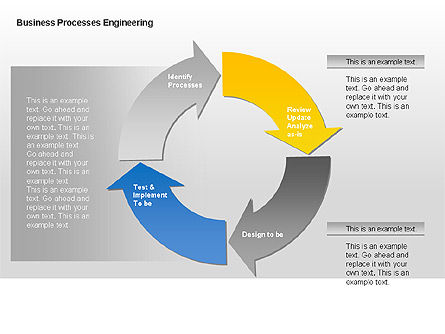 Business Process Engineering Diagram, Slide 4, 00035, Process Diagrams — PoweredTemplate.com