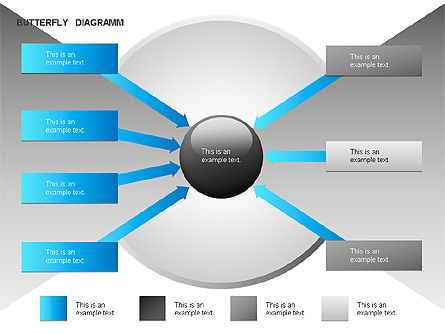 Butterfly Diagram, Slide 8, 00036, Business Models — PoweredTemplate.com