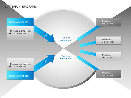 Butterfly Diagram, Slide 9, 00036, Business Models — PoweredTemplate.com