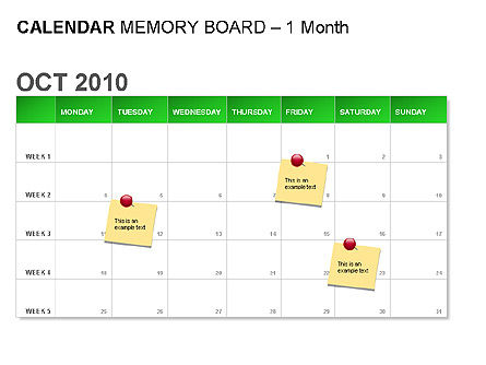 Green Calendar, Slide 3, 00037, Timelines & Calendars — PoweredTemplate.com