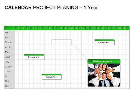 Green Calendar, Slide 7, 00037, Timelines & Calendars — PoweredTemplate.com