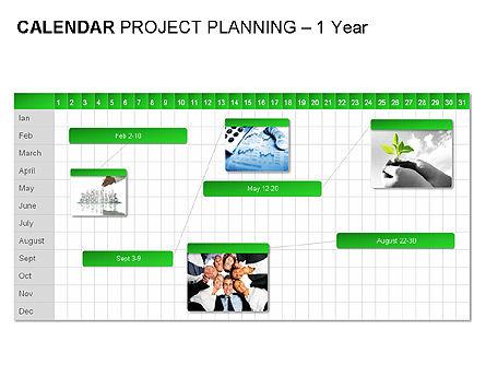 Green Calendar, Slide 8, 00037, Timelines & Calendars — PoweredTemplate.com