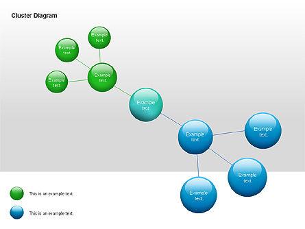Cluster Diagram, Slide 2, 00038, Tree Diagrams — PoweredTemplate.com
