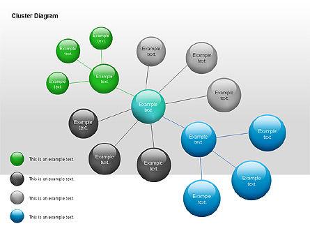 Cluster Diagram, Slide 4, 00038, Tree Diagrams — PoweredTemplate.com