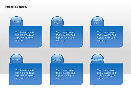 Internet Strategy Diagram, Slide 5, 00042, Process Diagrams — PoweredTemplate.com